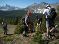 Lost Creek trail clearing crew