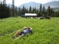 Lazing at camp