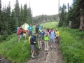 2014 Trail Maintenance Crew begins the hike in to basecamp