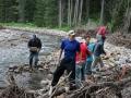 Diverting the creek
