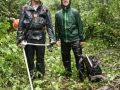 The soaking wet trail clearing crew (Jean-Francois and Brad)