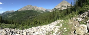 Nearing Fording River Pass