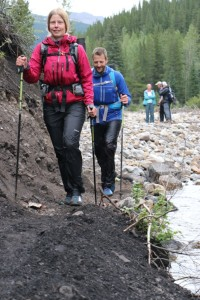 GDT thru-hikers, Laura and Gian (from Switzerland)