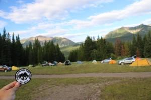 Our basecamp (and the vintage GDTA badge)