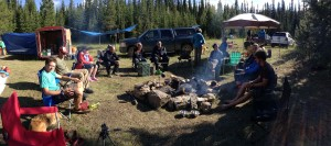 Relaxing back at camp