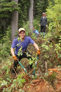 Clearing the trail corridor