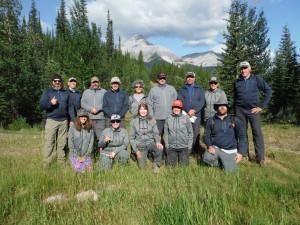 The GDTA Trail Crew in The North Face jackets
