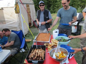 Gourmet food in the backcountry