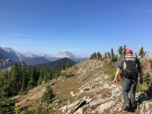 Hail Ridge, a short hike away from our backcountry basecamp for trips #1–5