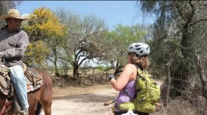 Fidgit Getting Directions from a Rancher in Mexico