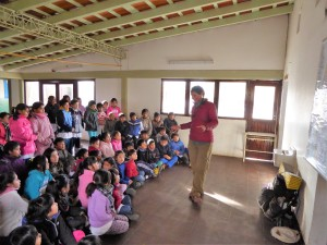 Fidgit Enroute Giving a School Lecture in Salta, Argentina (Northern Argentina)