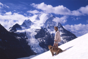 """Jim Thorsell and """"Dawg"""" at Mount Robson Provincial Park, B.C. in 1970. (Photo by Mike Misko)"""