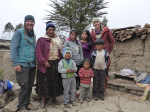 Quechua Family Who Gave Fidgit (left) and Neon (right) a Place to Sleep, Bolivia
