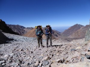 The Women Atop Portillo Pass, Between Chile and Argentina in the Andes, Just East of Santiago, Chile